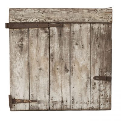 Grey Barn Door With White Distress Paint