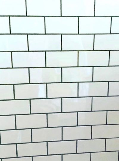 White Subway Tile Grey Grout Surface Workshop